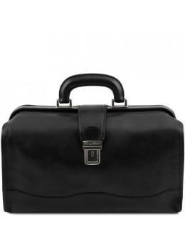 Чоловічий шкіряний саквояж чорного кольору Tuscany Leather TL141852 Black