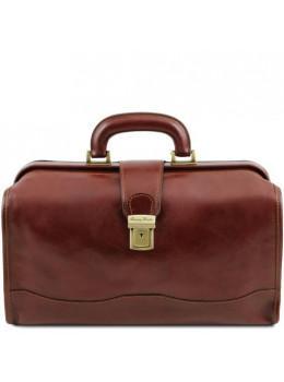 Чоловік шкіряний саквояж коричневого кольору Tuscany Leather TL141852 Brown