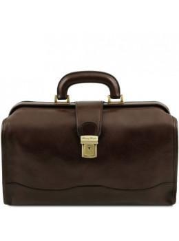 Чоловік шкіряний саквояж маленького розміру Tuscany Leather TL141852 Dark Brown