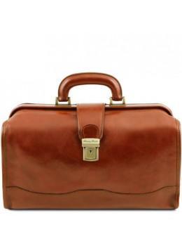 Шкіряний чоловічий саквояж світло-коричневого кольору Tuscany Leather TL141852 Med