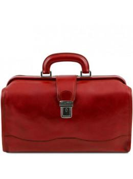 Червоний шкіряний саквояж чоловічий Tuscany Leather TL141852 Red