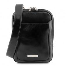 Чёрная маленькая сумка-мессенджер для мужчин Tuscany Leather TL141914 Black