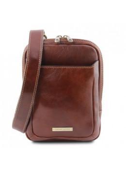 Коричневая мужская сумка мессенджер Tuscany Leather TL141914 Brown