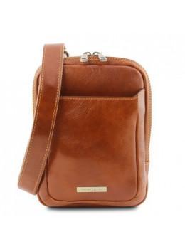 Светло-коричневая мужская кожаная сумка через плечо Tuscany Leather TL141914 Med