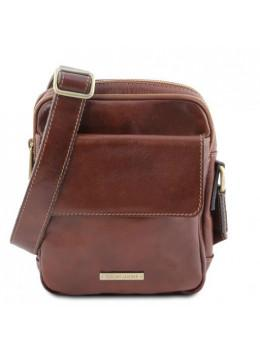 Маленькая мужская сумка мессенджер Tuscany Leather TL141915 Brown