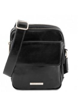 Чёрная маленькая мужская сумочка Tuscany Leather TL141915 Black
