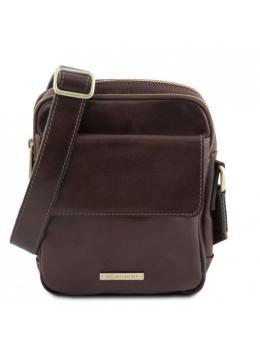 Тёмно-коричневая мужская сумочка через плечо Tuscany Leather TL141915 Dark Brown