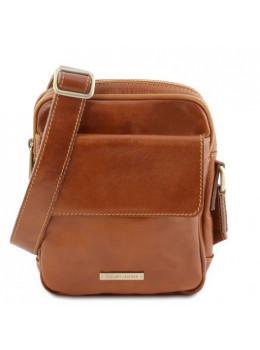 Свело-коричневая мужская сумка через плечо Tuscany Leather TL141915 Med