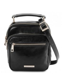 Маленькая мужская кожаная барсетка Tuscany Leather TL141916 Black