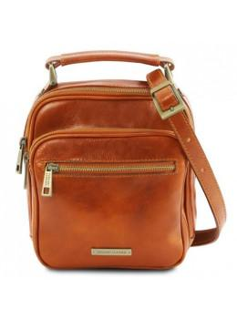Светло-коричневая маленькая мужская барсетка Tuscany Leather TL141916 Med