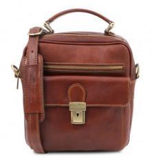 Коричневая мужская барсетка из натуральной кожи Tuscany Leather TL141978 Brown