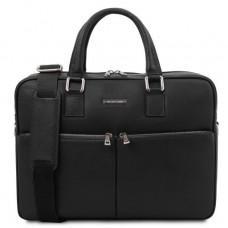 Чёрная мужская сумка под ноутбук TREVISO Tuscany Leather TL141986 Black