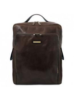 Мужской кожаный итальянский рюкзак BANGKOK Tuscany Leathe TL141987 Dark Brown