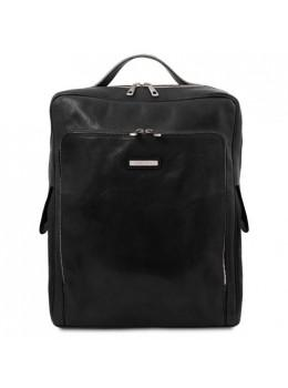 Большой чёрный рюкзак мужской BANGKOK Tuscany Leathe TL141987 Black