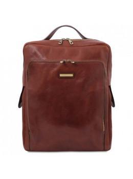 Стильный мужской рюкзак из кожи BANGKOK Tuscany Leathe TL141987 Brown
