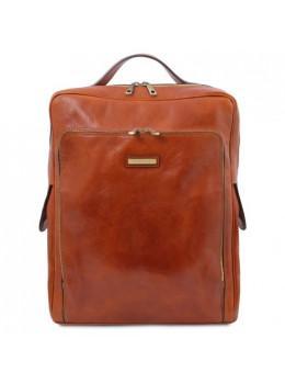 Светло-коричневый кожаный рюкзак мужской BANGKOK Tuscany Leathe TL141987 Med