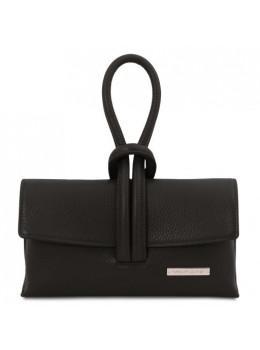 Чорна шкіряна сумочка клатч Tuscany Leather TL141990 Black