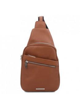 Коричневый кожаный рюкзак на одно плечо Tuscany Leather TL142022 Brown