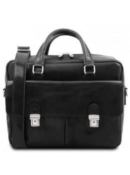 Мужской кожаный портфель SAN MINIATO Tuscany Leather TL142026 Black