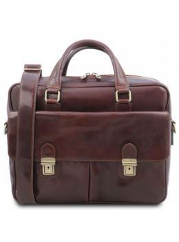 Мужской кожаный портфель SAN MINIATO Tuscany Leather TL142026 Brown
