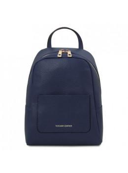 Темно-синій шкіряний рюкзак для жінки Tuscany Leather TL142052 Dark Blue