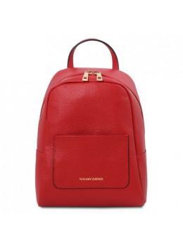 Червоний рюкзак з натуральної шкіри жіночий Tuscany Leather TL142052 Red