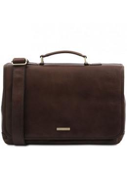Мужская кожаная сумка-портфель MANTOVA Tuscany Leather TL142068 Dark Brown