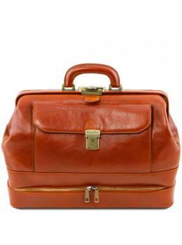 Світло-коричневий шкіряний саквояж Tuscany Leather TL142071 med