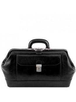 Чорний чоловічий шкіряний саквояж Tuscany Leather TL142089 Black