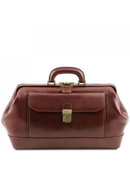 Чоловік шкіряний саквояж коричневого кольору Tuscany Leather TL142089 brown