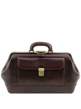 Чоловік шкіряний саквояж Tuscany Leather TL142089 Dark Brown