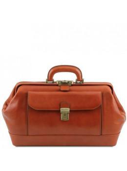Світло-коричневий шкіряний саквояж чоловічий Tuscany Leather TL142089 Med