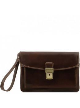 Темно-коричнева шкіряна барсетка MAX Tuscany Leather TL8075 Dark Brown