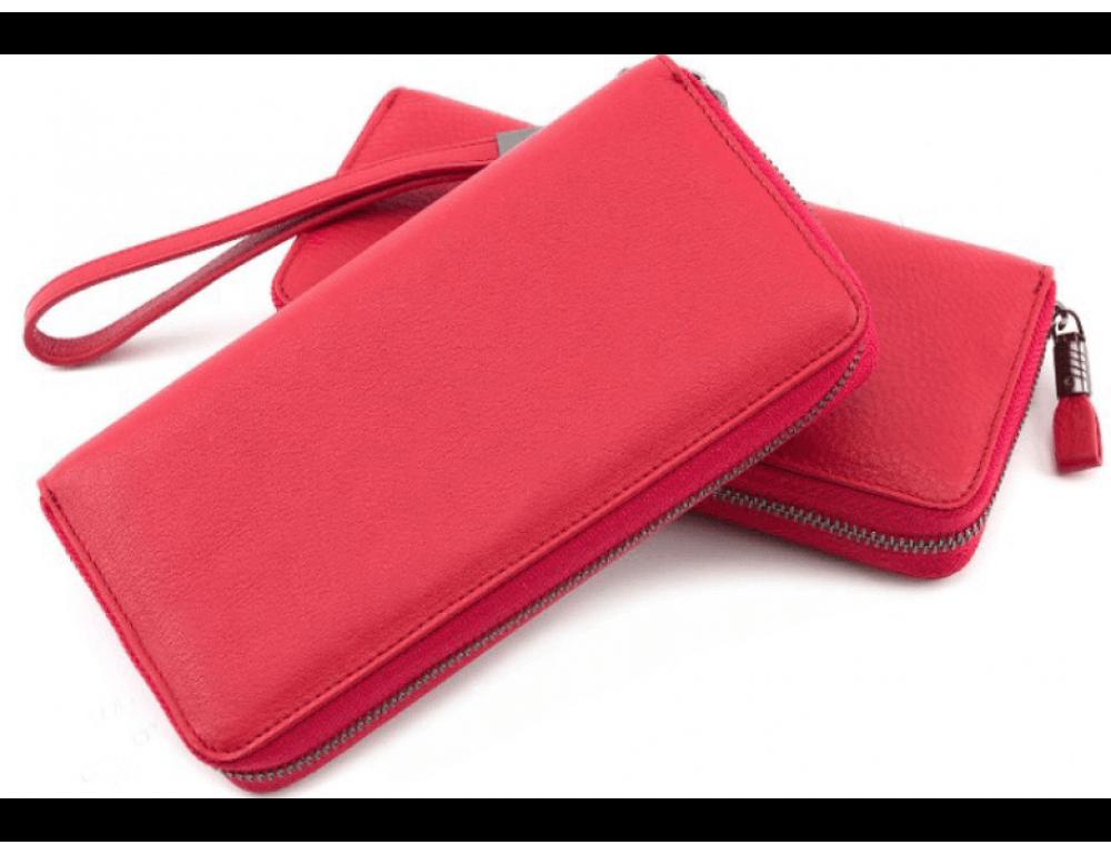 Красный кожаный кошелёк с ремнём Marco Coverna TRW8575R - Фото № 1