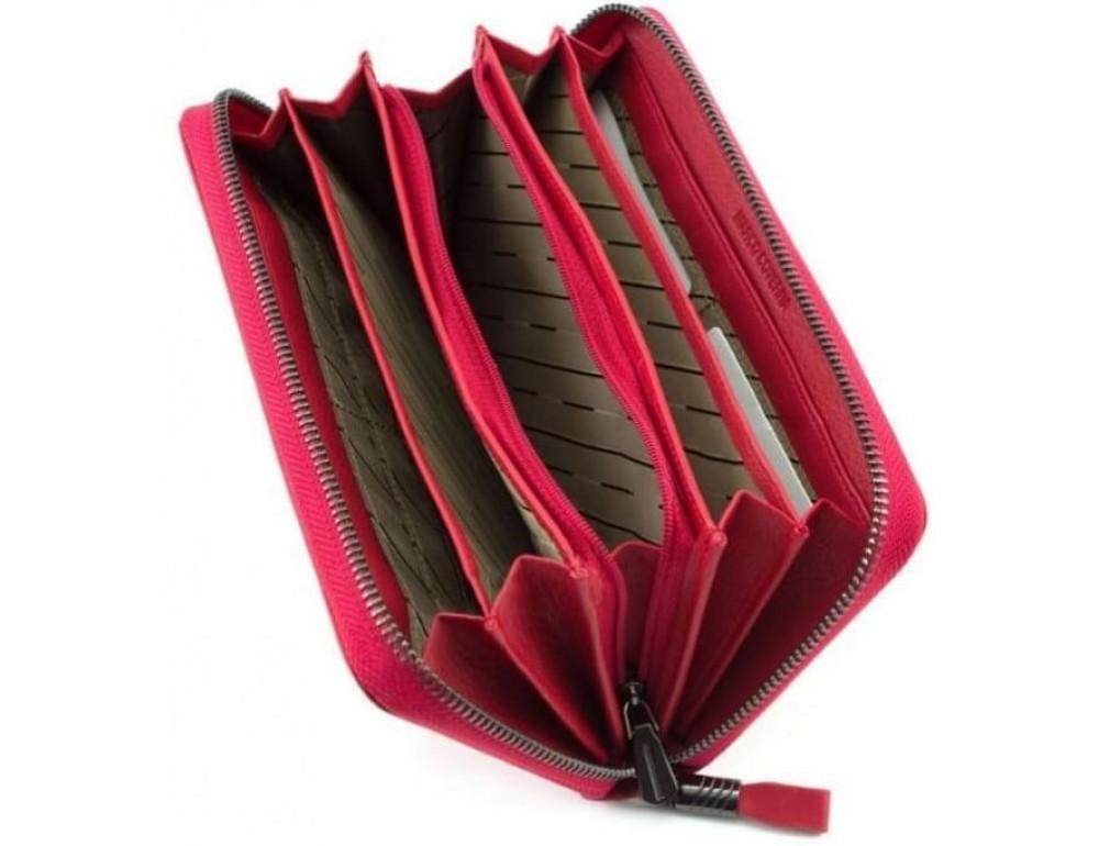 Красный кожаный кошелёк с ремнём Marco Coverna TRW8575R - Фото № 2