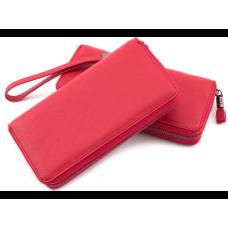 Красный кожаный кошелёк с ремнём Marco Coverna TRW8575R