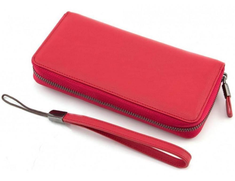 Красный кожаный кошелёк с ремнём Marco Coverna TRW8575R - Фото № 4