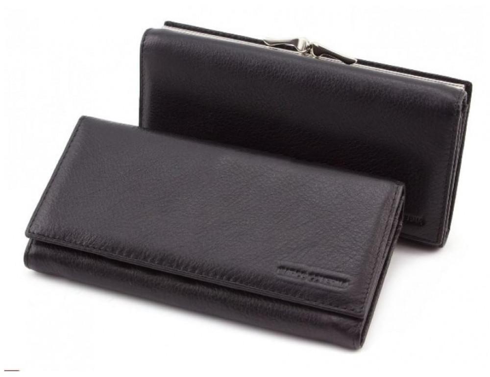 Чёрный женский кожаный кошелёк Marco coverna MC-1412-1