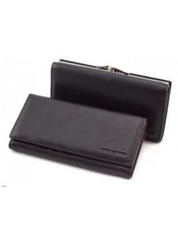 Чорний жіночий шкіряний гаманець Marco coverna TRW7970A