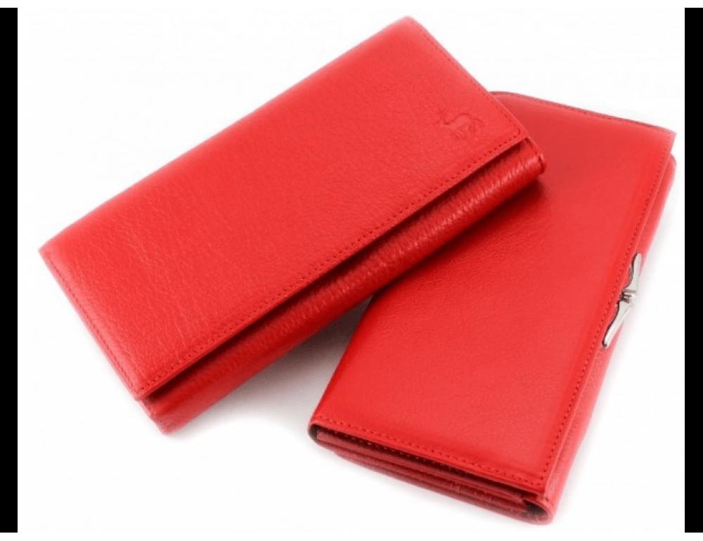 Красный женский кожаный кошелёк Marco coverna MC-1412-2 - Фото № 1