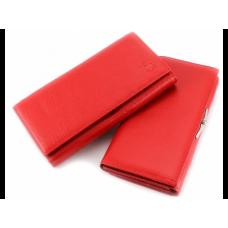 Красный женский кожаный кошелёк Marco coverna TRW7970R