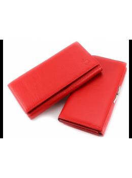 Червоний жіночий шкіряний гаманець Marco coverna TRW7970R