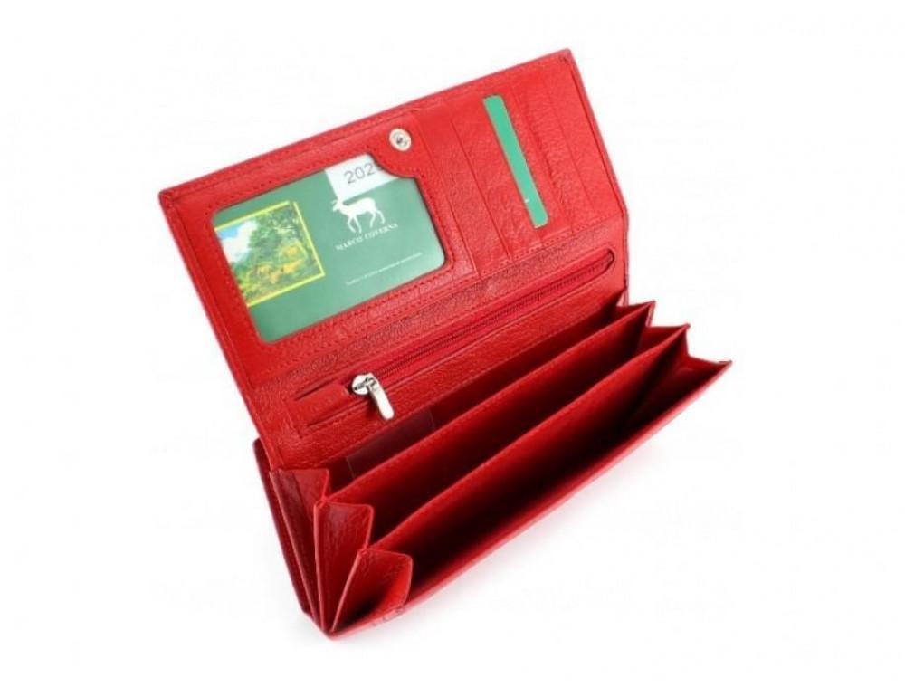 Красный женский кожаный кошелёк Marco coverna MC-1412-2 - Фото № 2