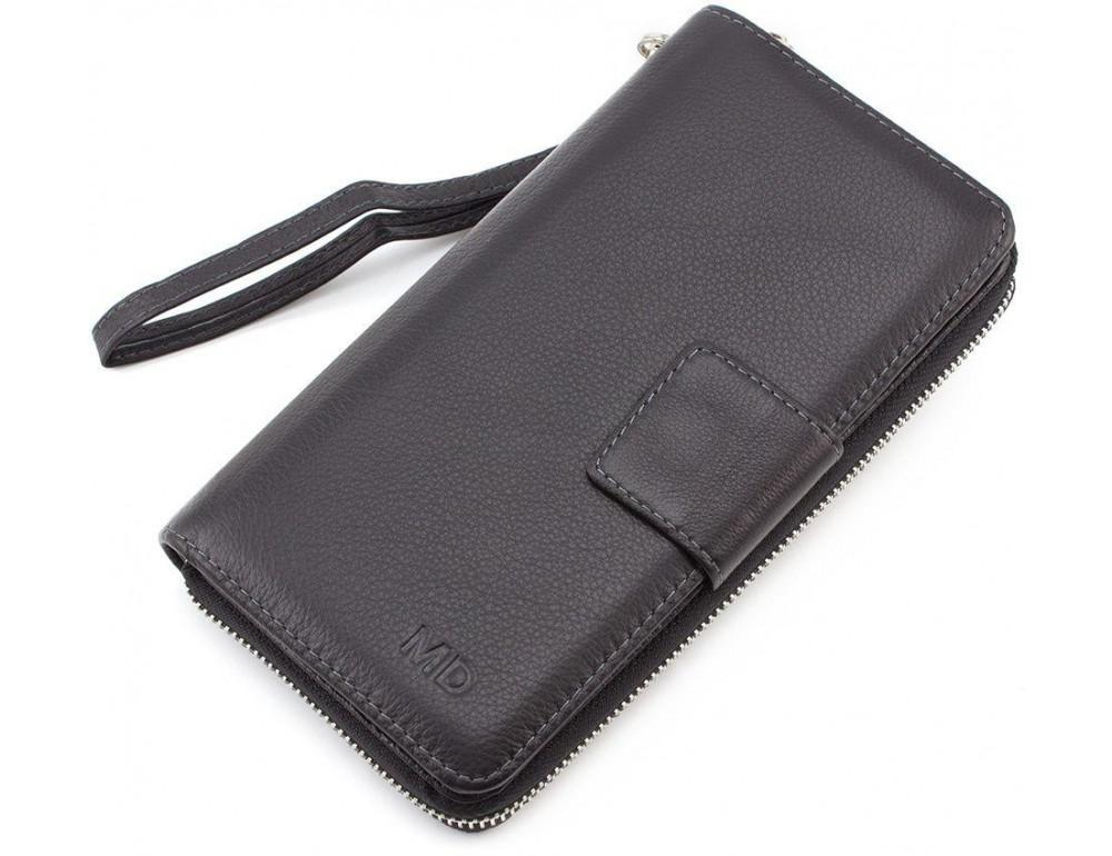 Чёрный кожаный клатч MD Leather 7m-183