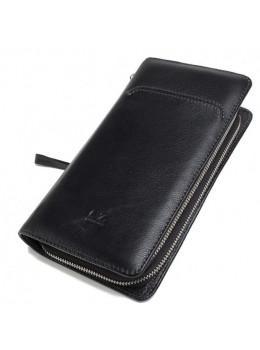 Кожаный клатч Horton Collection TR2M-893 чёрный