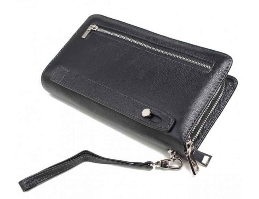 Кожаный клатч Horton Collection TR2M-893 чёрный - Фото № 2