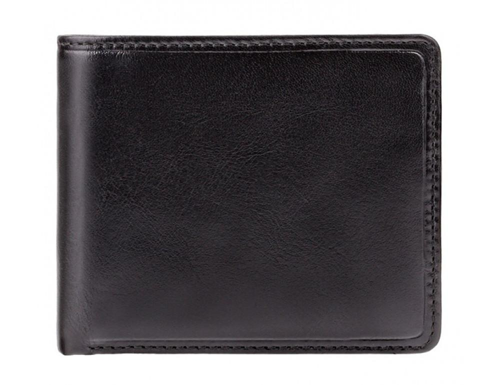 Чёрный брендовый портмоне Visconti TR30 BLK/RED Raffle c RFID - Фото № 1