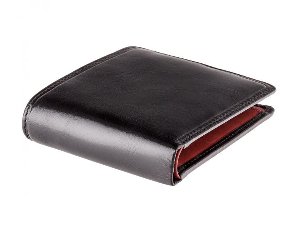 Чёрный брендовый портмоне Visconti TR30 BLK/RED Raffle c RFID - Фото № 3