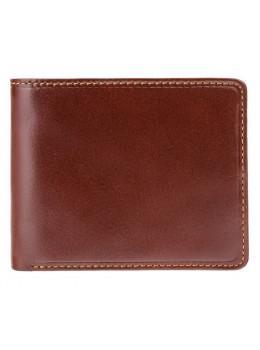 Коричневый портмоне из кожи Visconti TR30 BRN/TAN Raffle c RFID
