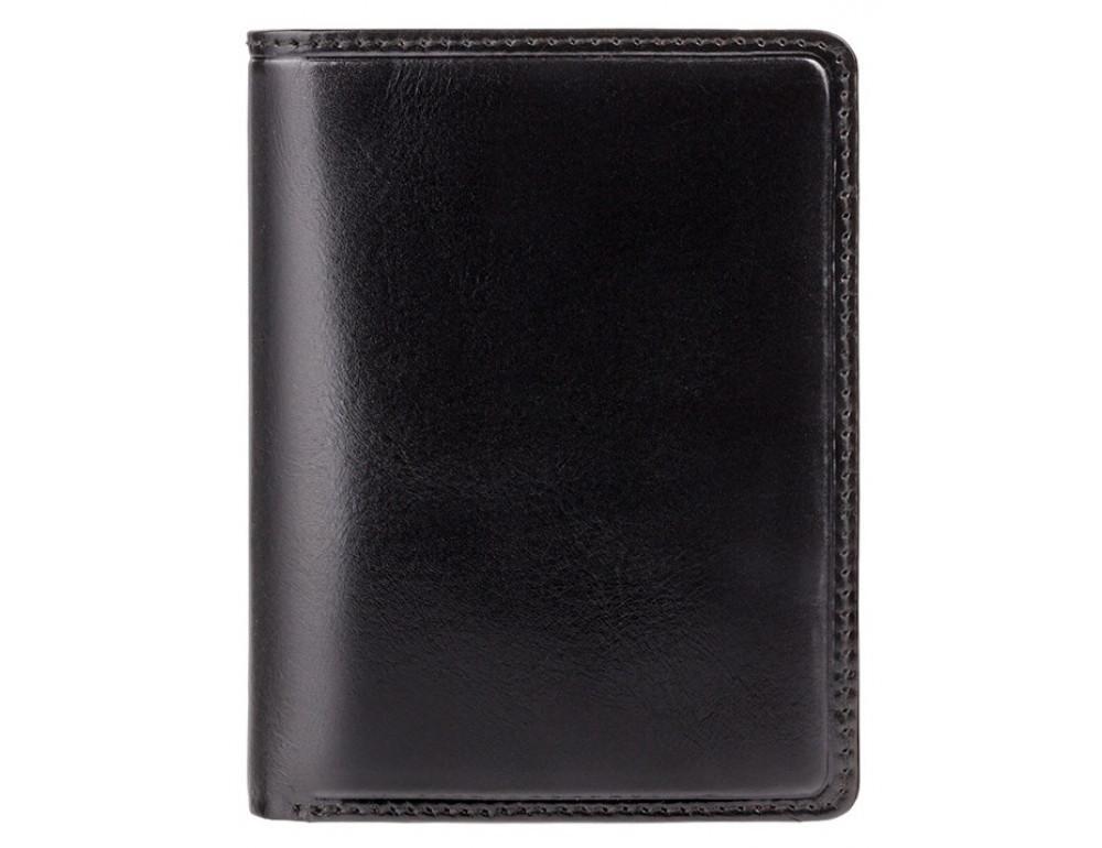 Мужской кожаный кошелек Visconti TR34 BLK/RED Waldorf чёрный с красным - Фото № 1